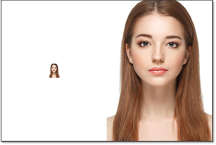 نتیجه پس از کوچک کردن تصویر پیکسل تا 10 درصد از اندازه آن