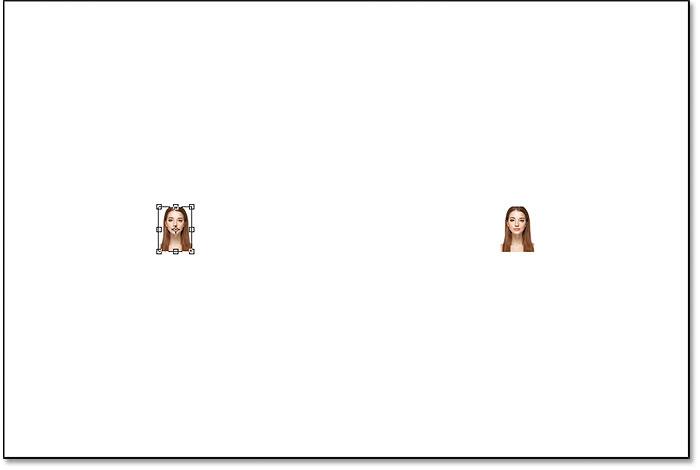 Free Transform اطراف تصویر پیکسل در سمت چپ را کنترل می کند