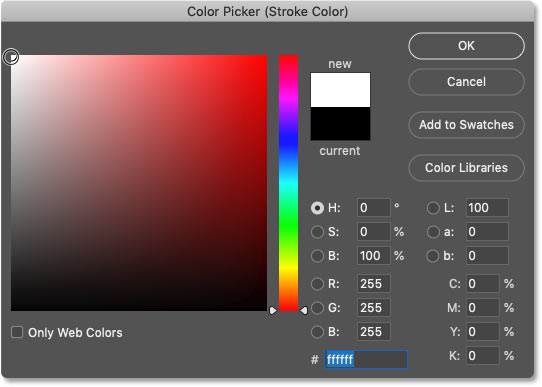 انتخاب رنگ استروک از Color Picker فتوشاپ