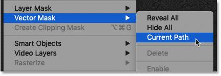 نحوه تبدیل مسیر به ماسک برداری در فتوشاپ