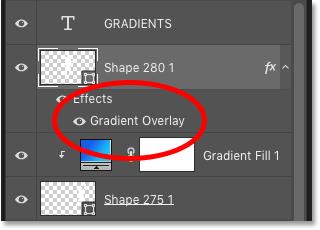 گرادیان سوم به عنوان اثر لایه Gradient Overlay اضافه شد.
