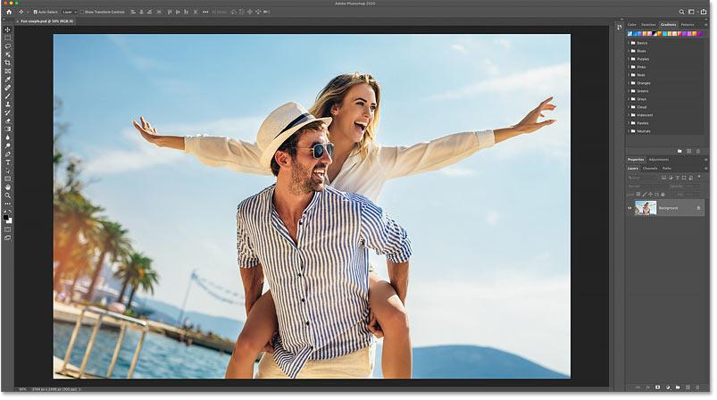 تصویری باز در Photoshop CC 2020. منبع عکس: Adobe Stock.