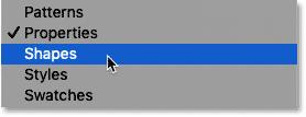 چگونه می توان پنل Shapes را در Photoshop CC 2020 باز کرد