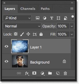 پنل Layers دوباره هر تصویر را در یک لایه جداگانه نشان می دهد