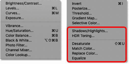 شش تنظیم تصویر در Photoshop به عنوان لایه های تنظیم گر در دسترس نیست