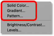 سه نوع لایه پر موجود در فتوشاپ