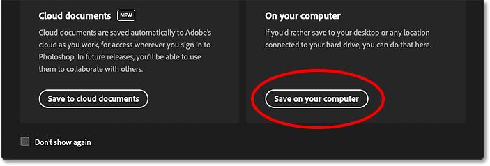 انتخاب ذخیره سند فتوشاپ در رایانه من